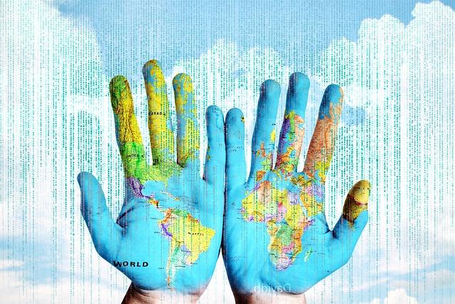 svět na rukou